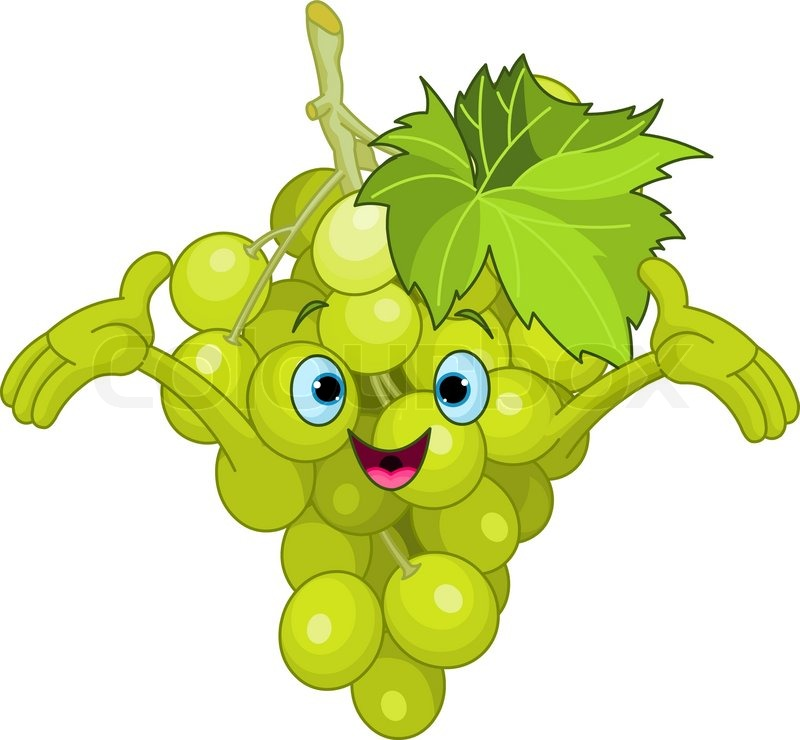 Cheerful Cartoon Grape character | Stock Vector | Colourbox