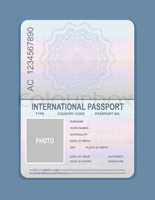 Vector illustration of open passport     | Stock vector