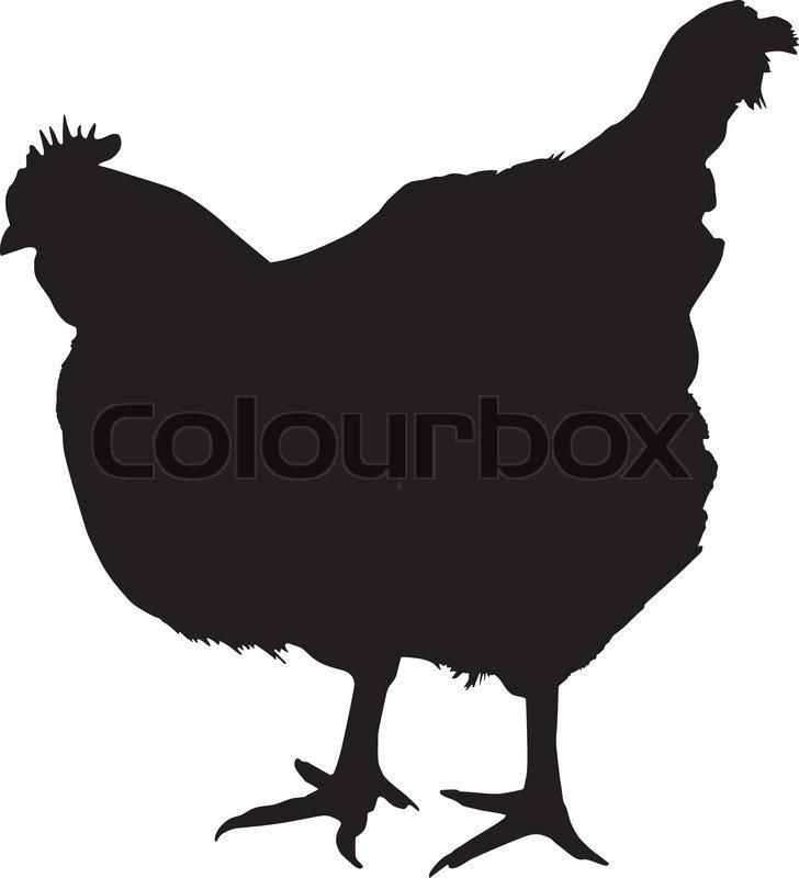 Silhouette Of A Chicken Stock Vector Colourbox