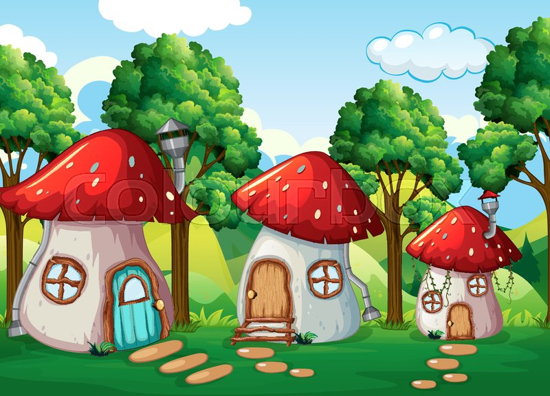 Enchanted mushroom house in nature ... | Stock vector ... on house plant ivory, house plant sage, house plant eggplant, house plant fern, house plant strawberry, house plant fungus, house plant pink, house plant flower, house plant asparagus, house plant red, house plant willow, house plant mold, house plant dog, house plant larva, house plant coffee, house plant pineapple, house plant fennel, house plant corn, house plant thyme, house plant colorful leaves,