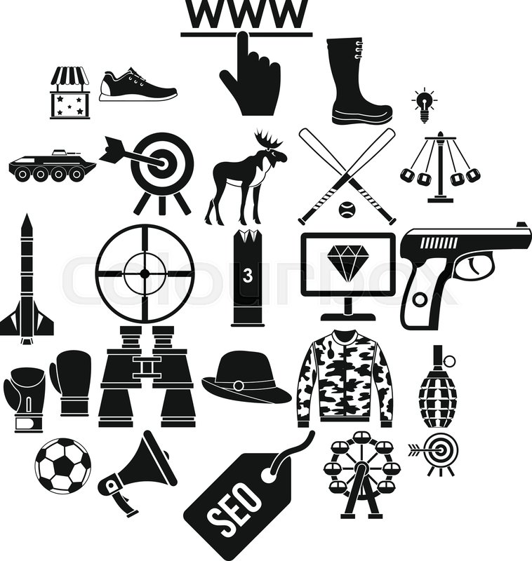 Target Icons Set Simple Set Of 25 Stock Vector