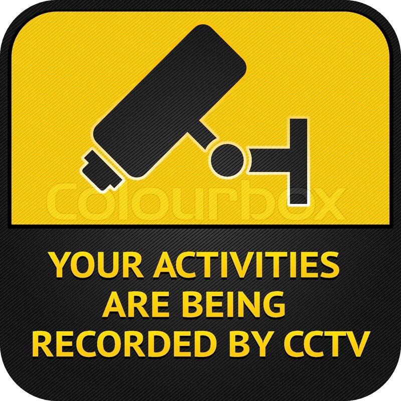 Cctv Pictogram Video Surveillance Sign Stock Vector