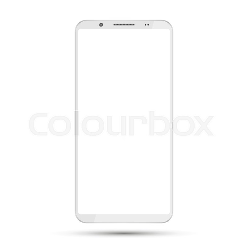 f559550dd160a6 Smartphone mockup with blank screen ... | Stock vector | Colourbox
