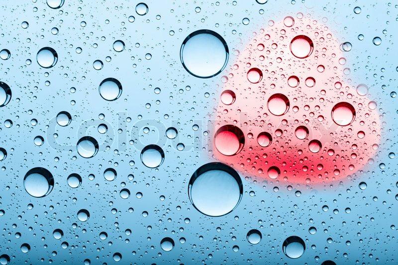 Abstrakte baggrunde med vand bobler og hjerte form   Stock ...