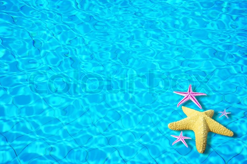 Water background with starfish stock photo colourbox stock image of water background with starfish voltagebd Images