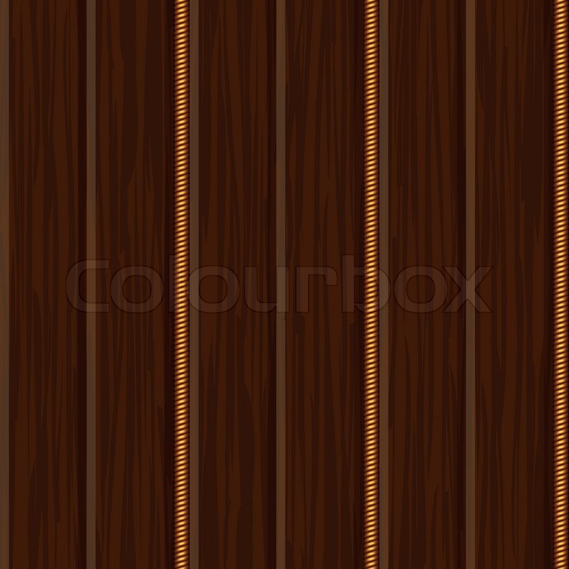 Wood Wall Panel Texture With Gold Stock Vector Colourbox