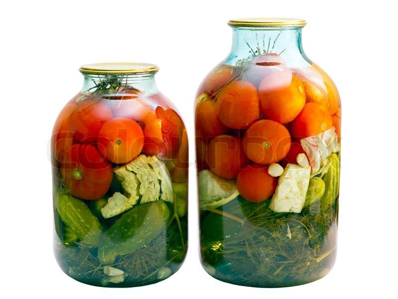 dosen tomaten und gurken im glas stockfoto colourbox. Black Bedroom Furniture Sets. Home Design Ideas