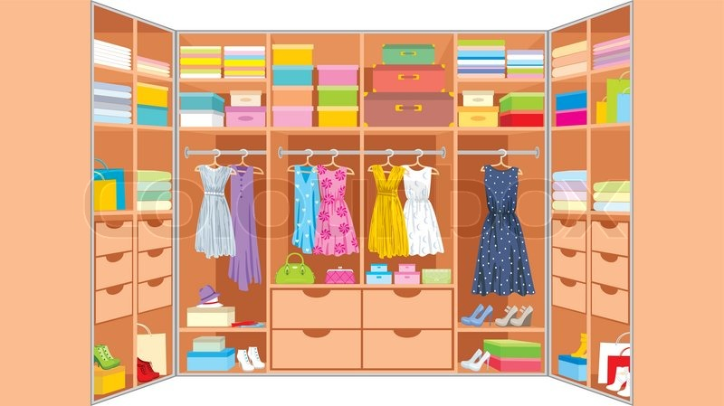 wardrobe room furniture stock vector colourbox clipart clothes small clipart clothes outlines