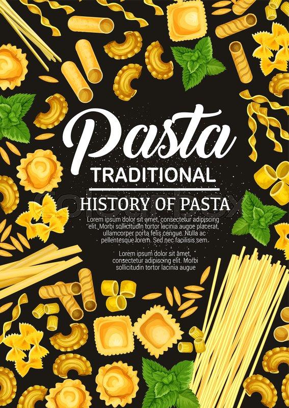 Italian pasta cooking book vector