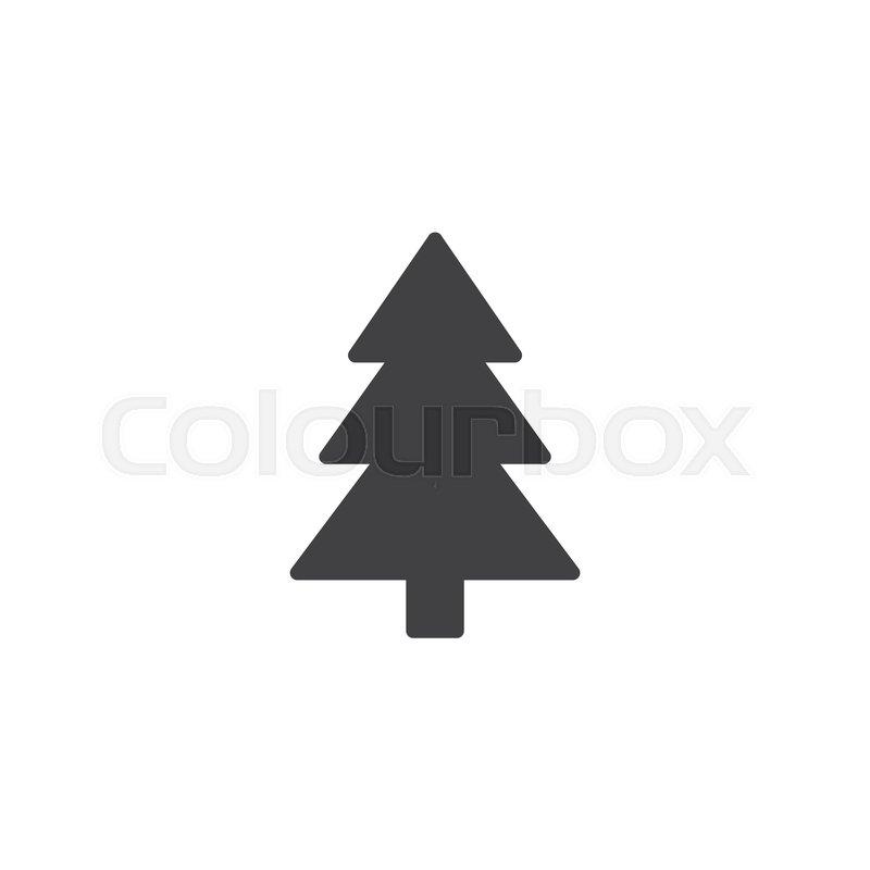 Xmas Tree Vector Icon Filled Flat Stock Vector Colourbox