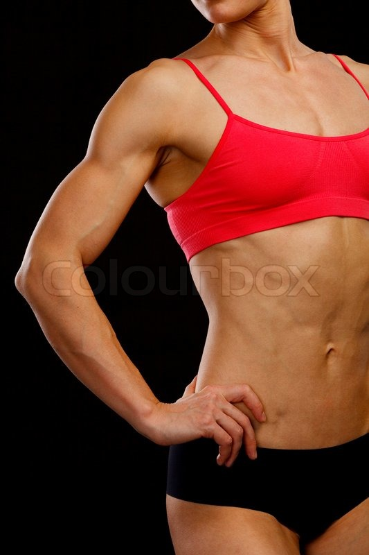 Stock image of 'Muscular female body'