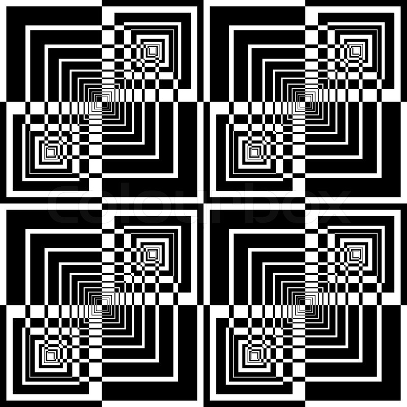 nahtlose geometrische muster in op art design vektorgrafik colourbox. Black Bedroom Furniture Sets. Home Design Ideas
