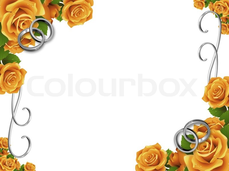 3d imagen by wedding frame | Stock image | Colourbox