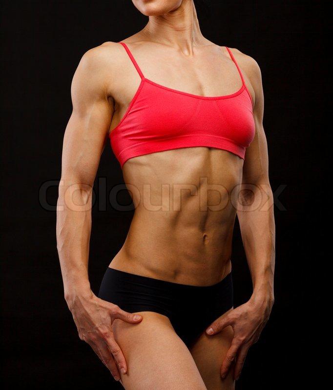 Muscular Female Body Stock Photo Colourbox