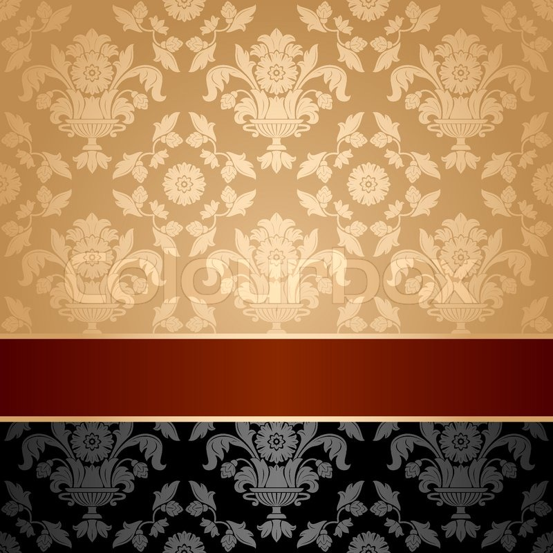 Seamless Pattern Floral Decorative Background Maroon