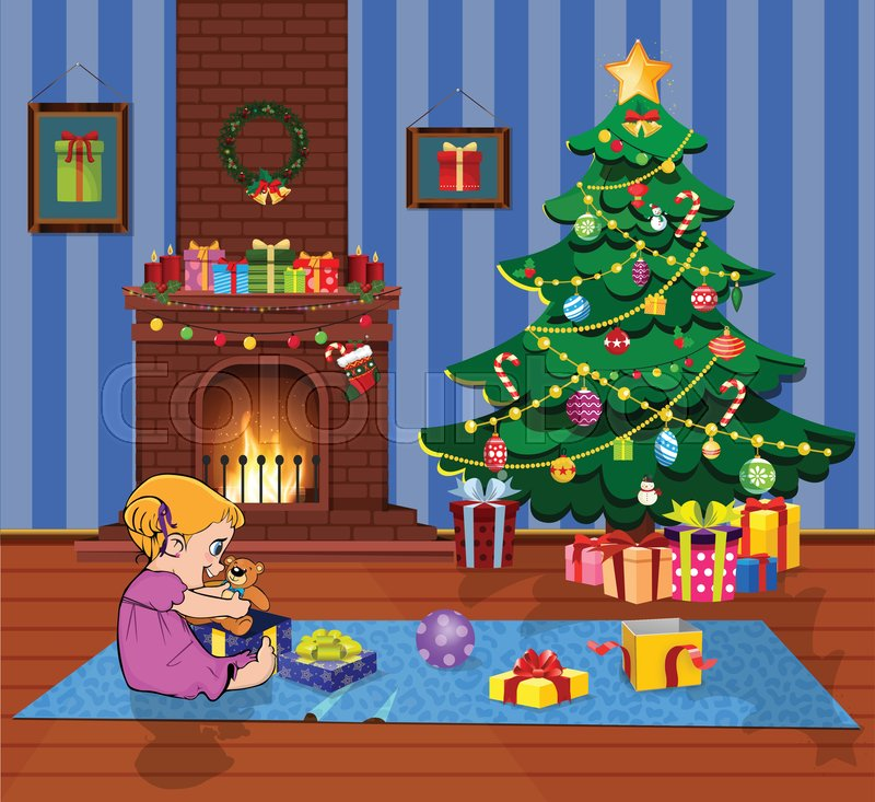 Cute Cartoon Vector Illustration Of Stock Vector Colourbox At drawing how to you can learn how to easily draw a cartoon style christmas tree. cute cartoon vector illustration of