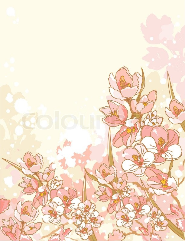 Spring Flowers Design Stock Vector Colourbox