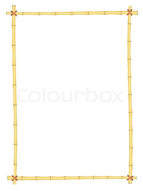 Bambus-Rahmen -Muster | Vektorgrafik | Colourbox
