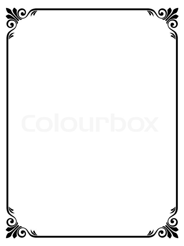 Simple Ornamental Decorative Frame Vector 3591523 on award black and white