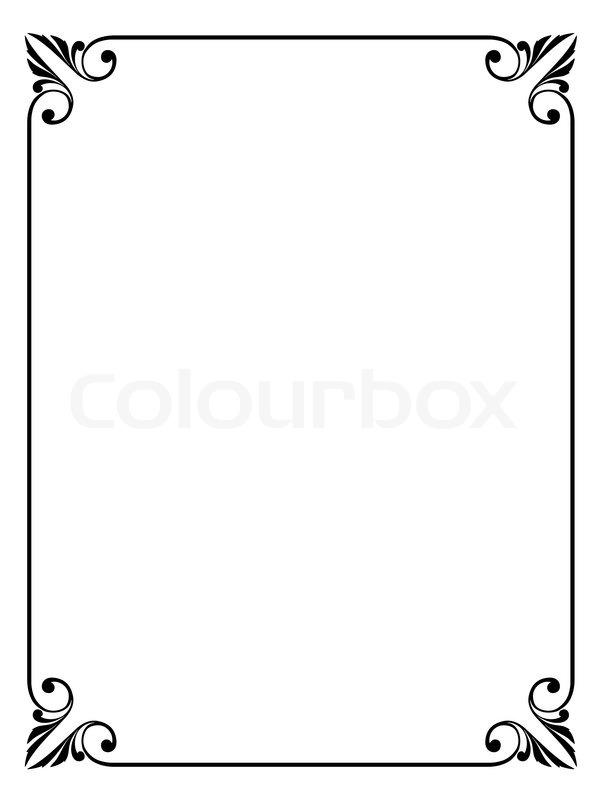 Einfachen Ornamentalen Dekorativen Rahmen Stock Vektor