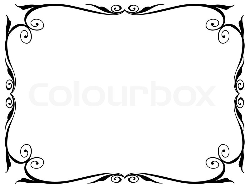 einfachen ornamentalen dekorativen rahmen vektorgrafik colourbox. Black Bedroom Furniture Sets. Home Design Ideas
