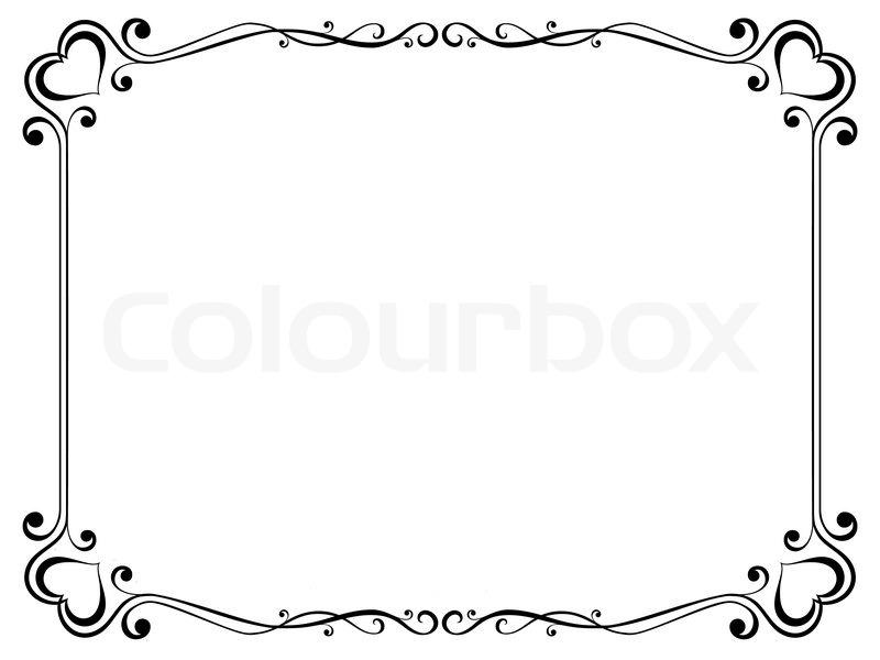 Kalligraphie ornamentalen dekorativen Rahmen mit Herz ...