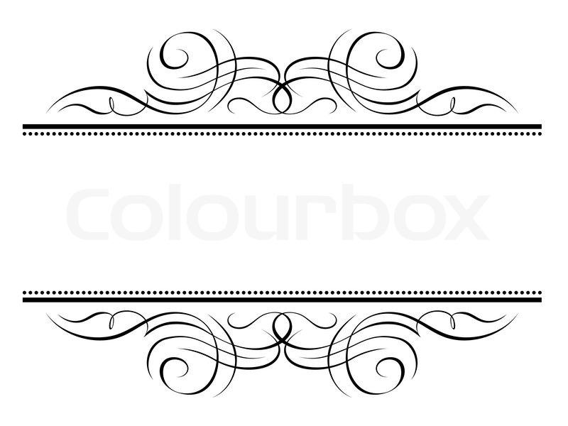 Kalligrafi Vignet Ornamental Skrivestil Dekorativ Ramme