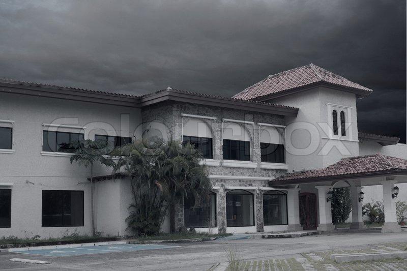 creepy halloween haunted mansion stock photo colourbox