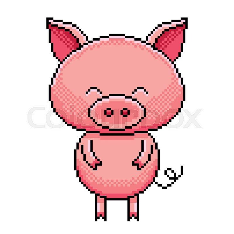 b2df00959d1ff Pixel art cute pig detailed ...