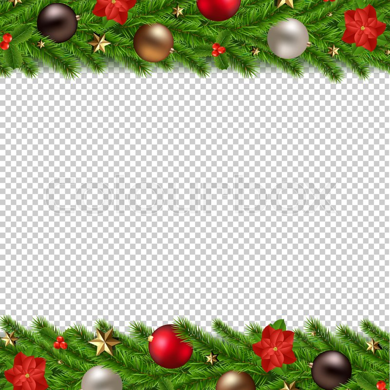 Christmas Garland Isolated Transparent Stock Vector Colourbox