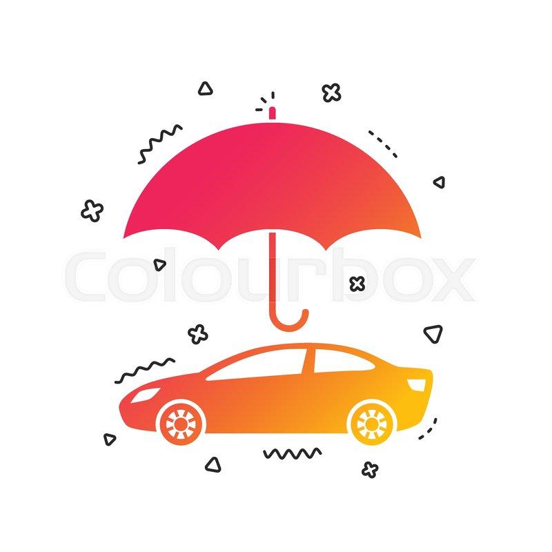 Car Insurance Sign Icon Protection Stock Vector Colourbox