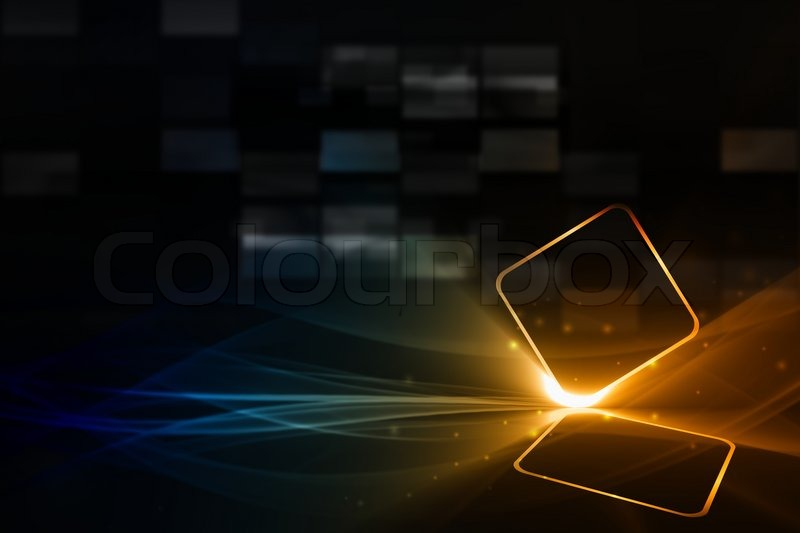 Technological background - abstract mobile device with ...