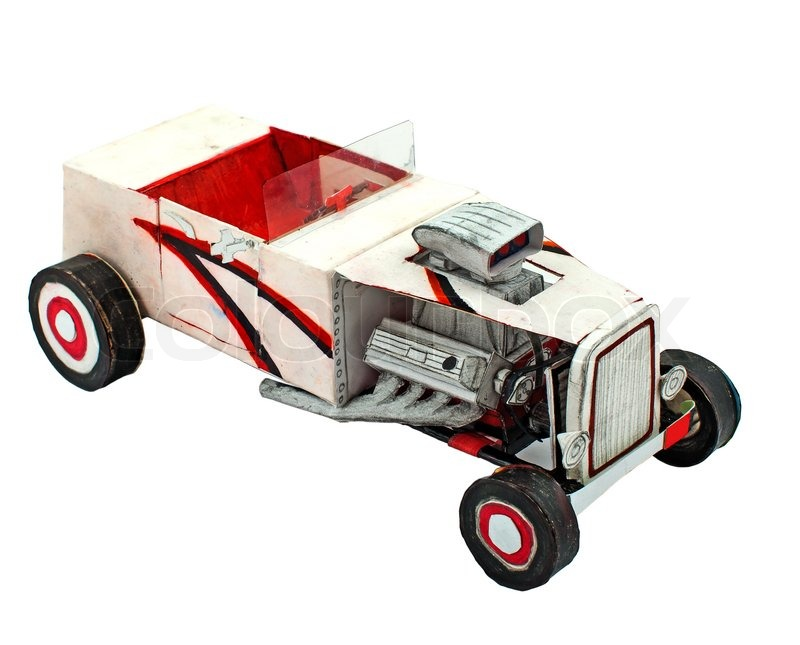 Paper car model   Stock Photo   Colourbox