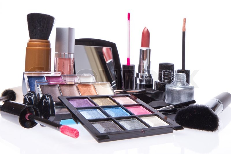Set of cosmetic makeup products stock photo colourbox for What is cosmetics made of