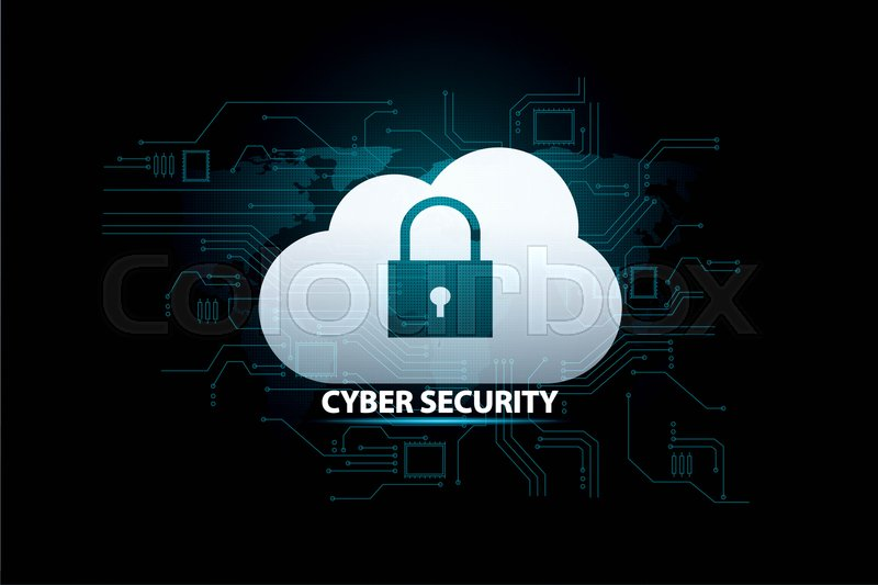 Social security information or network protection. Future cyber technology web services for business and internet project, stock photo