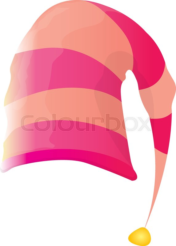Colorful Christmas Background For Kids.Vector Funky Pink Stripped Cartoon Stock Vector