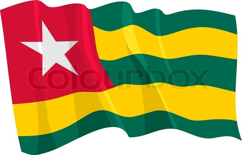 political waving flag of togo stock vector colourbox rh colourbox com waving flag vector illustrator waving flag vector image