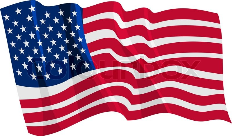 Political Waving Flag Of United States