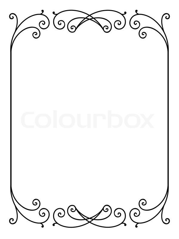 Vector floral ornamentalen dekorativen Rahmen   Vektorgrafik   Colourbox