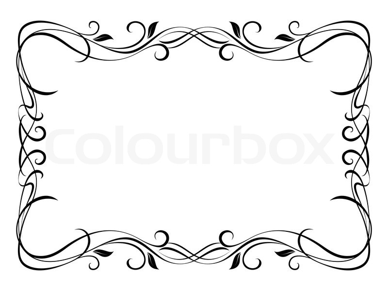 Vector floral ornamental decorative frame | Stock Vector | Colourbox