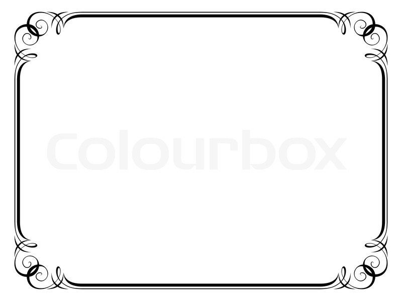 Calligraphy Ornamental Decorative Frame Stock Vector