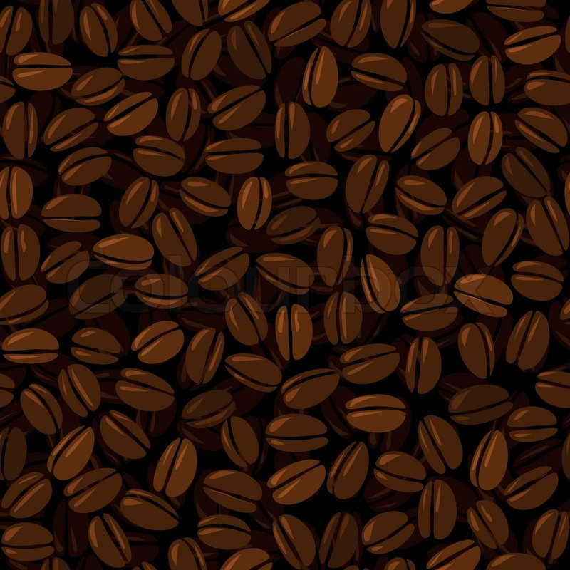 coffee beans seamless background stock vector colourbox
