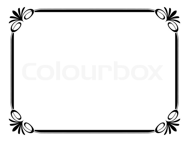 Simple Ornamental Decorative Frame Vector 3601680 on Swirl Border Stencil