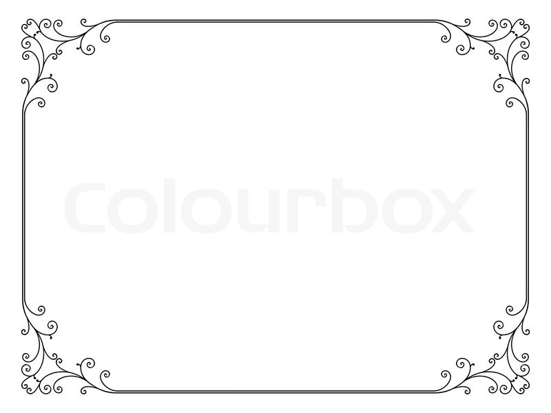 einfachen ornamentalen dekorativen rahmen vektorgrafik colourbox. Black Bedroom Furniture Sets. Home Design Ideas