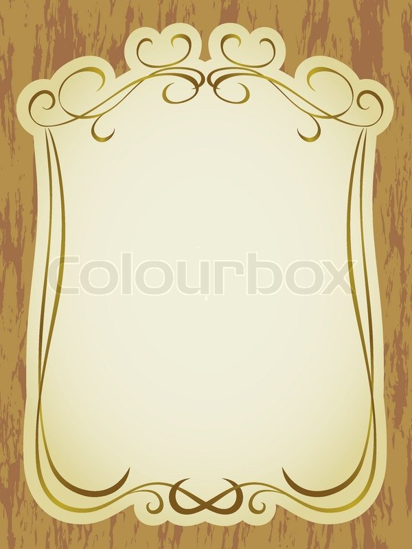 stock vector of vintage label frame pattern