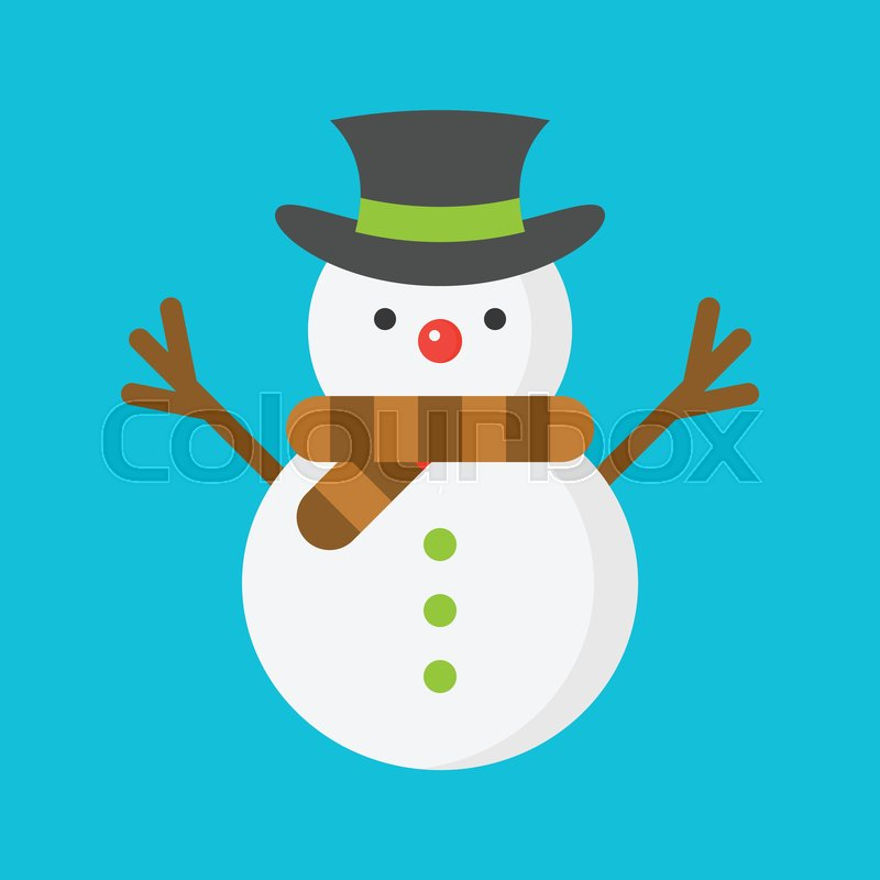 4bccda281b760 Snowman icon in flat design for use as material in christmas theme
