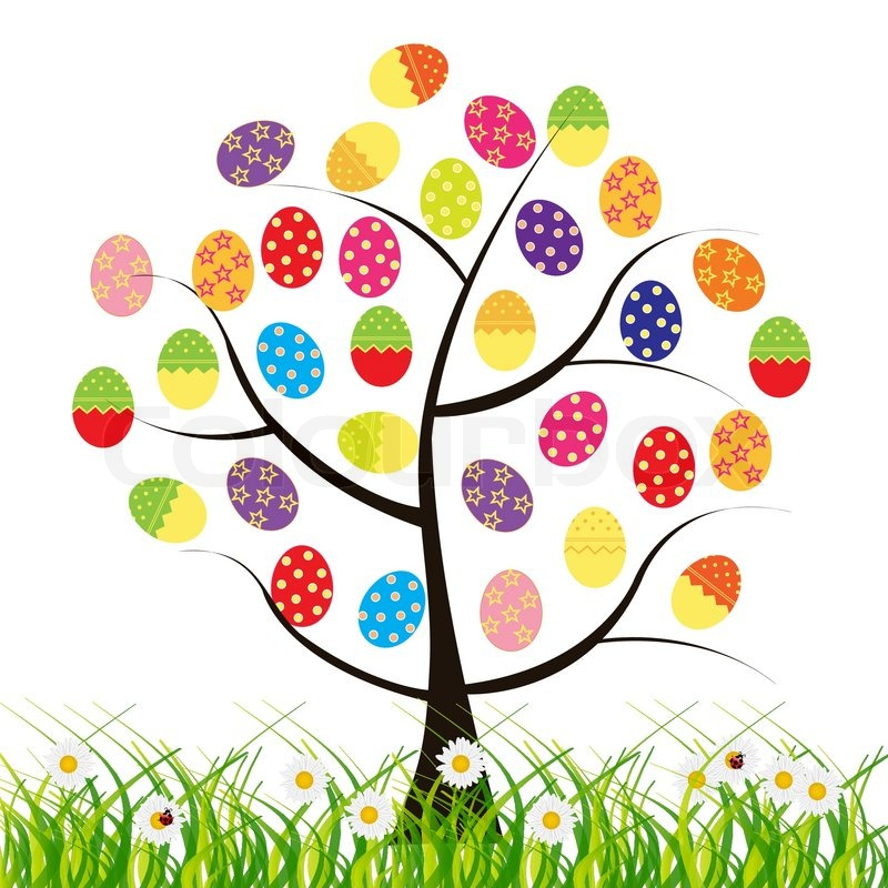 Vector easter tree with eggs | Stock vector | Colourbox