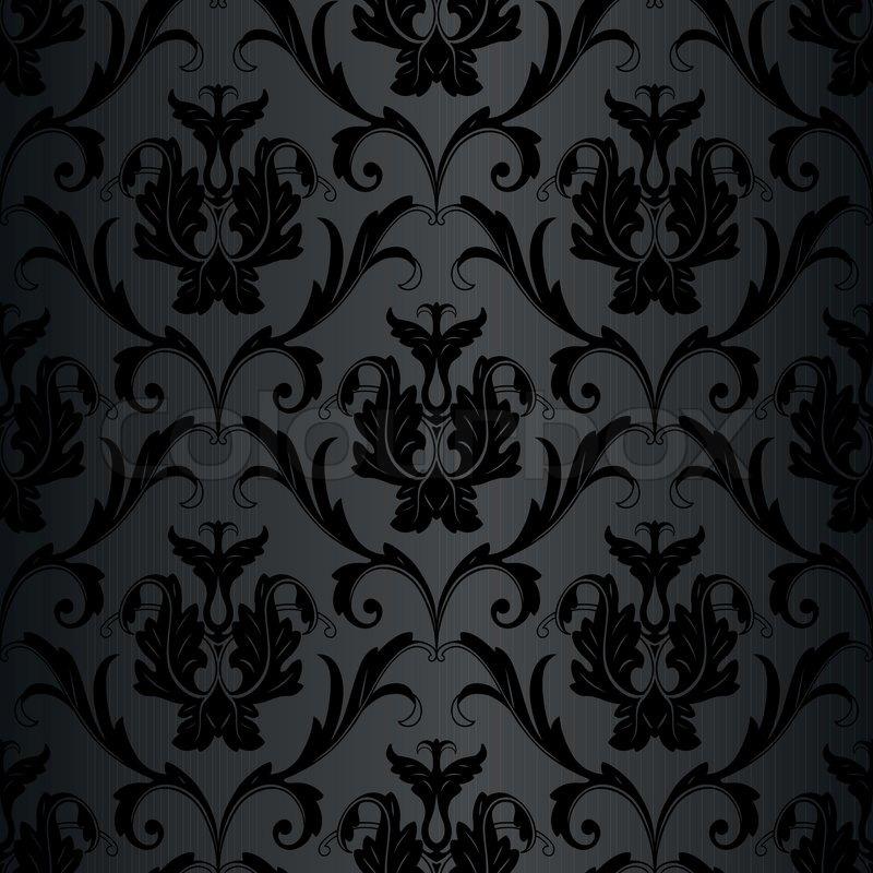 mønstret tapet Sømløs sort tapet mønster | stock vektor | Colourbox mønstret tapet