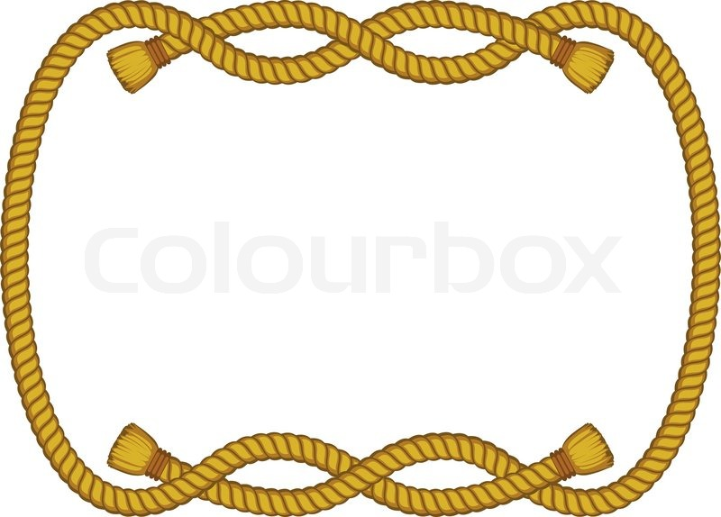 rope frame isolated on white stock vector colourbox rh colourbox com rope frame clipart free rope picture frame clip art