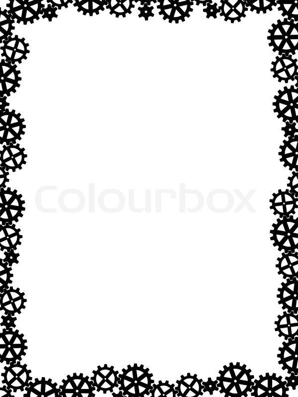 Vector different gears black like frame | Stock Vector ...